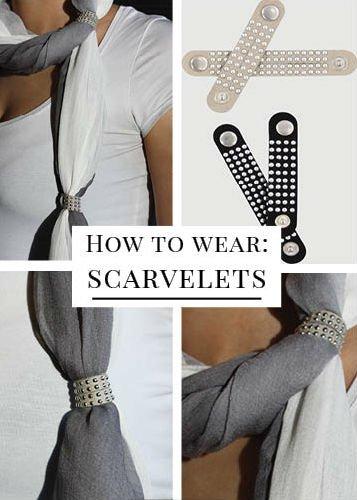 Grijze scarvelets print (2 st)