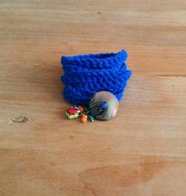 Kobaltblauwe wikkelarmband (mama)
