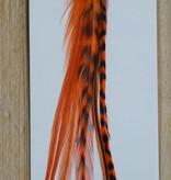 Oranje veerextensions 4 tot 6 los (Large)