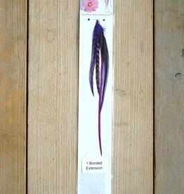 Paarse veerextensions bundel (Large)