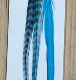 Turquoise veerextensions los 3 tot 4 (M)