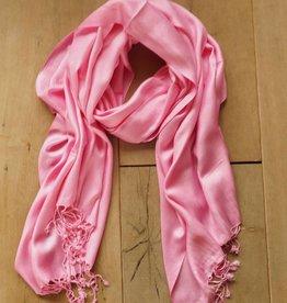 Roze pashminasjaal