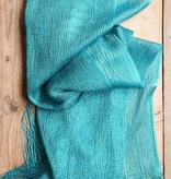 Turquoise glitersjaal