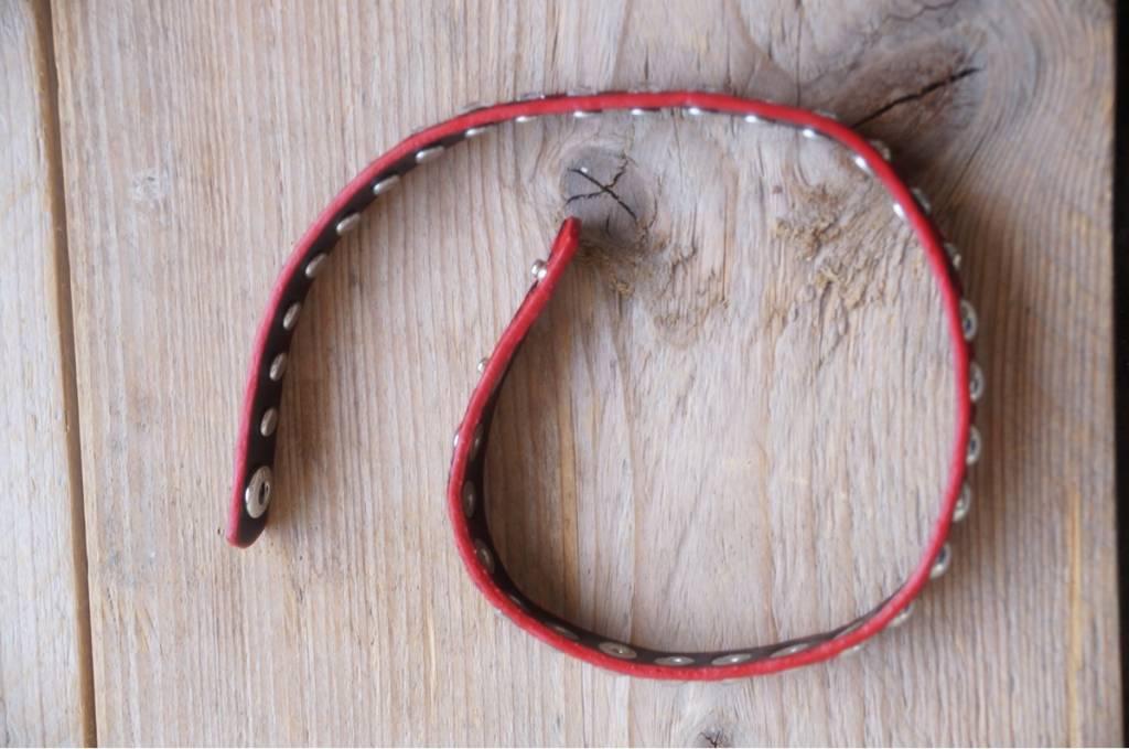 Rood wikkelarmbandje dierenprint