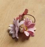 Bloemelastiek lila/roze