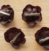 Donkerbruine bloemetjes (4x)