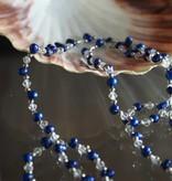 Zoetwaterparels blauw