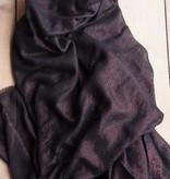 Zwarte glittersjaal / omslagdoek
