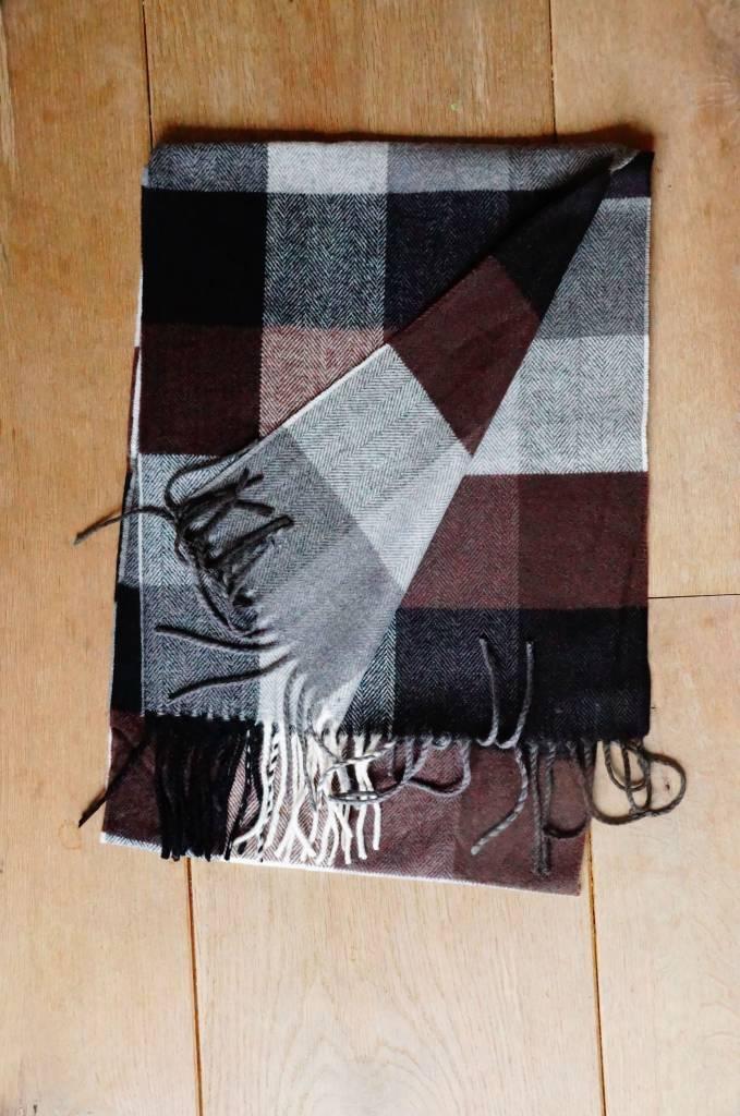 Herensjaal bruin/grijs