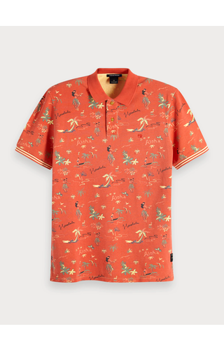 SCOTCH & SODA - Polo met Maui-print