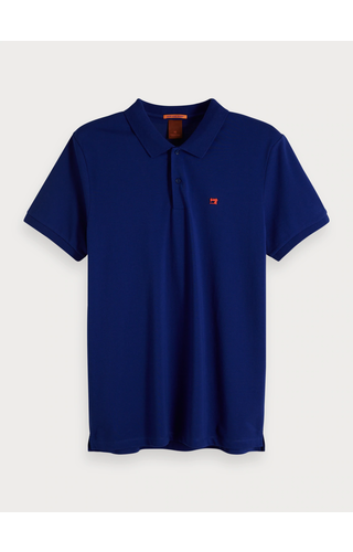 SCOTCH & SODA - Effen polo pique katoen