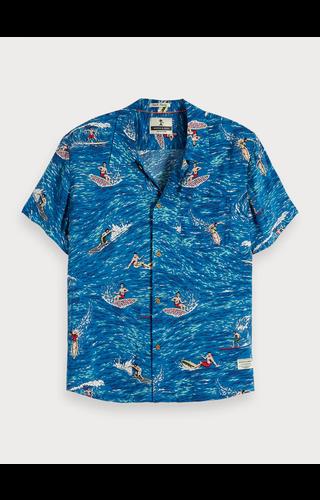SCOTCH & SODA -  Overhemd met surfprint Hawaii