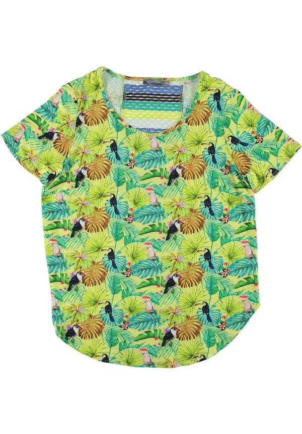 - T-Shirt groen met geel 93187-20