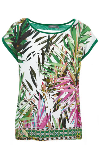 Geisha - T-Shirt met all-over print groen