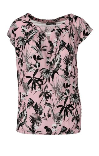 Geisha - Top roze met all-over print