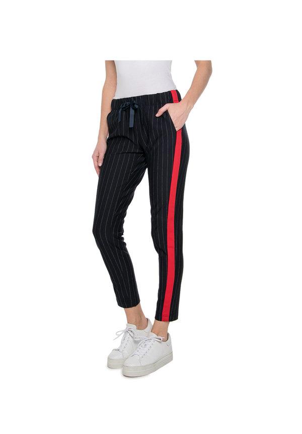- Blauwe broek met rode streep 91112-21