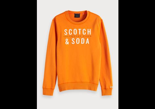 SCOTCH & SODA - Oranje  logo sweater