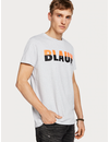 - T-shirt met colourblock logo grijs 150532