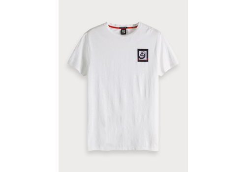 SCOTCH & SODA - T-shirt met artworkdetail Brutus wit