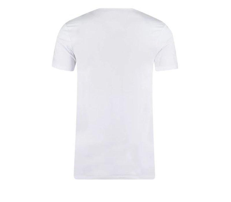 Garage 0222 V neck 2 Pack Bio Cotton White