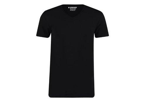Garage Basics Garage 0222 V neck 2 Pack Bio Cotton Black