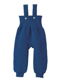 Disana Knitted Dungarees - navy