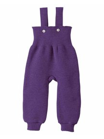 Disana Knitted Dungarees - plum