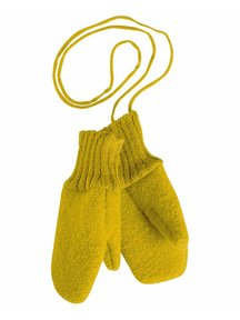 Disana Boiled Wool Mittens - curry
