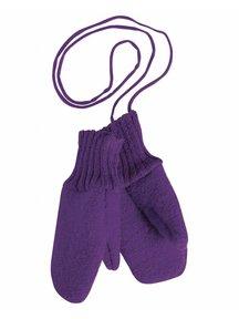 Disana Boiled Wool Mittens - plum