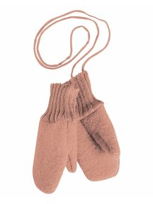 Disana Boiled Wool Mittens - rose