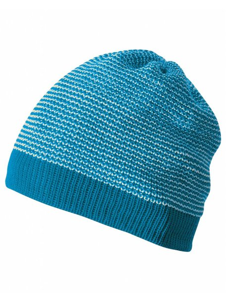 Disana Beanie van wol gemêleerd - blauw