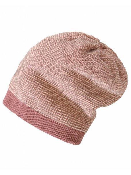 Disana Wollen long-beanie muts - roze