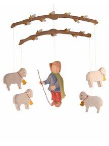 Ostheimer Mobiel van herder met schaapjes