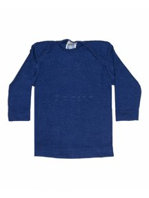 Cosilana Shirt van wol/zijde - blauw