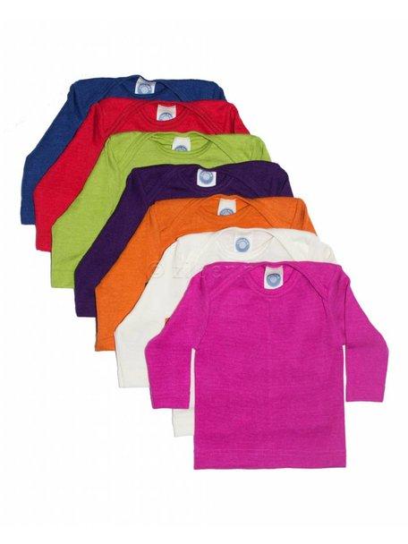Cosilana Shirt van wol/zijde - groen