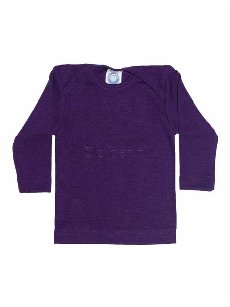 Cosilana Shirt van wol/zijde - paars