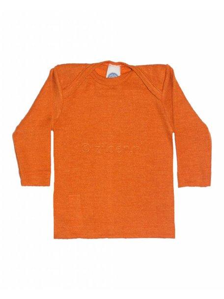 Cosilana Shirt van wol/zijde - oranje