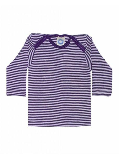 Cosilana Shirt van wol/zijde gestreept - paars