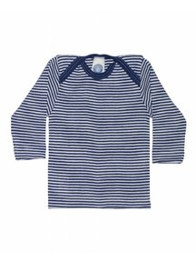 Cosilana Baby Shirt Wool / Silk Striped - blue