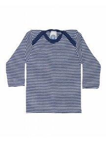 Cosilana Shirt van wol/zijde gestreept - blauw