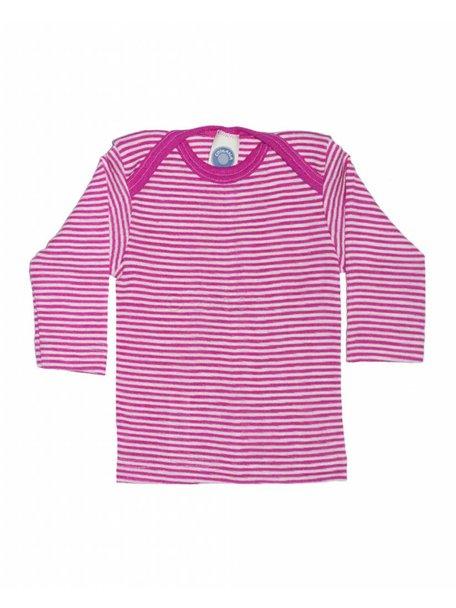 Cosilana Shirt van wol/zijde gestreept - roze