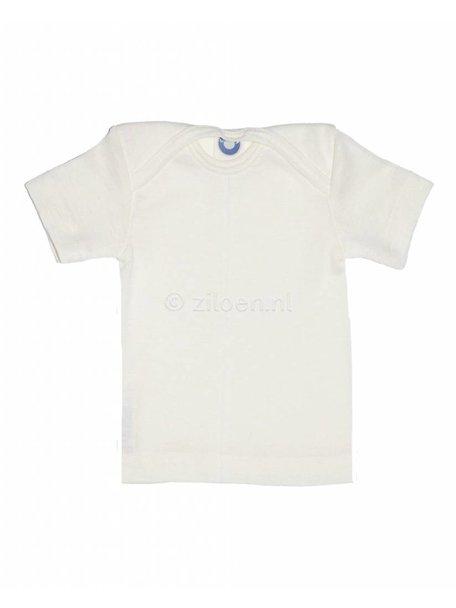 Cosilana Shirt van wol/zijde korte mouw - naturel