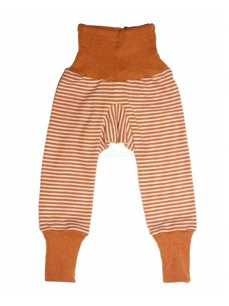 Cosilana Broekje van wol/zijde gestreept - oranje