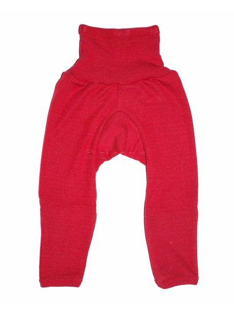 Cosilana Broekje met omslag pijpjes wol/zijde - rood