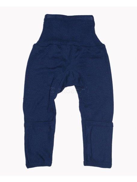 Cosilana Broekje met omslag pijpjes wol/zijde - blauw