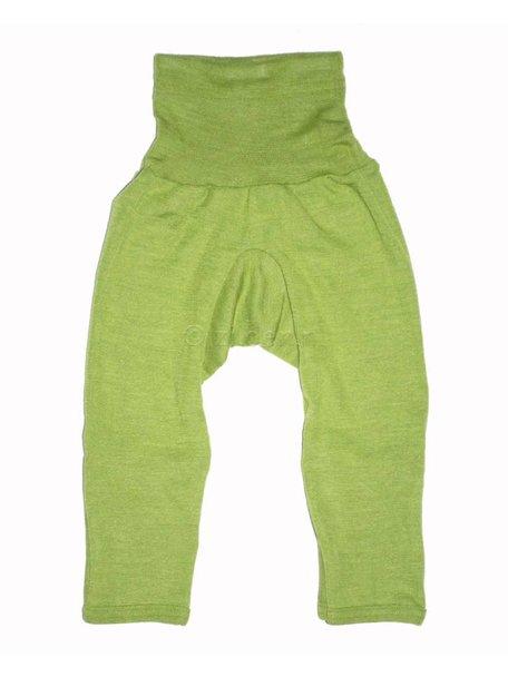 Cosilana Broekje met omslag pijpjes wol/zijde - groen