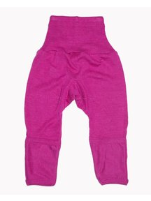Cosilana Baby Trousers With Scratch Protection Wool / Silk - pink