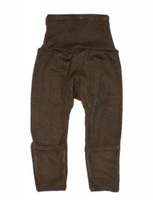 Cosilana Baby Trousers With Scratch Protection Wool / Silk - brown