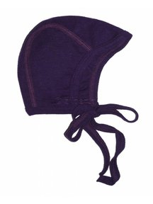 Cosilana Baby Bonnet Wool / Silk - purple