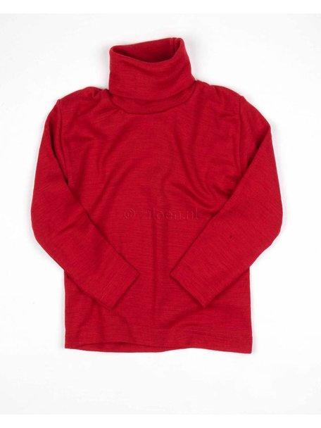 Cosilana  Kindershirt met colletje wol/zijde - rood